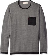 Levi's Men's Willard Light Weight Sweater with Rolled Hem and Collar