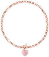 Michael Kors Rose Gold-Tone Heart Stone Pendant Necklace