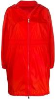 Moncler logo drawstring raincoat