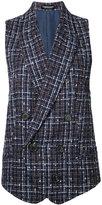 Undercover checked waistcoat - women - Acrylic/Nylon/Wool/Cotton - One Size