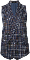 Undercover checked waistcoat - women - Cotton/Acrylic/Nylon/Wool - One Size