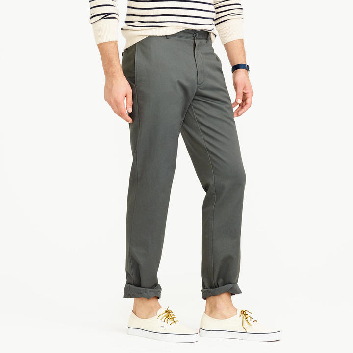 J.Crew Unhemmed essential chino in classic fit