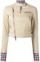 DSQUARED2 quilted shoulder jacket - women - Cotton/Polyester/Spandex/Elastane/copper - 38