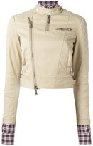 DSQUARED2 quilted shoulder jacket - women - Cotton/Polyester/Spandex/Elastane/copper - 40