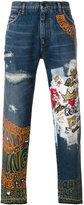 Dolce & Gabbana royal graffiti print jeans