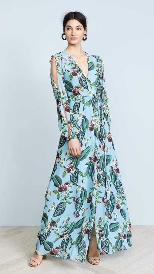 Nicholas Mayflower Wrap Split Dress
