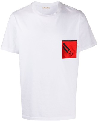 Marni patch pocket graphic T-shirt