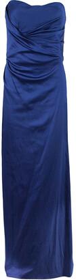Alberta Ferretti Blue Strapless Fishtail Gown L
