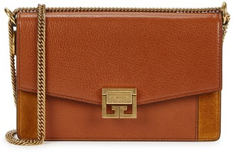 Givenchy GV3 brown leather wallet-on-chain