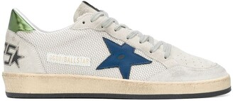 Golden Goose Ballstar distressed low-top trainers