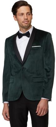 Jack London Emerald Velvet Tuxedo Jacket