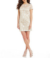 Vince Camuto Lattice Shift Dress
