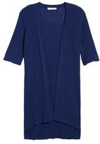 Chaus Women's Long Ribbed Cardigan