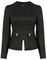 "Oasis PETITE FAUX LEATHER JACKET [span class=""variation_color_heading""]- Black[/span]"