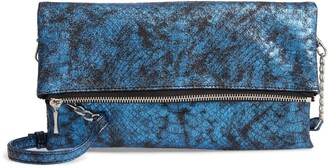Sole Society Snake Embossed Faux Leather Clutch