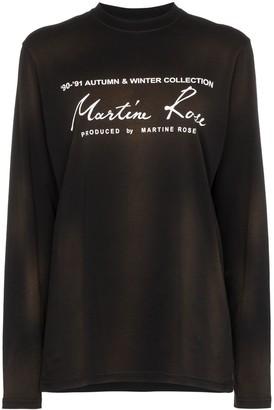 Martine Rose logo-print long-sleeve T-shirt