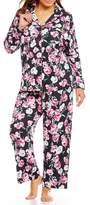 Karen Neuburger Plus Floral Interlock Pajamas