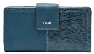 Fossil Logan Rfid Tab Clutch Wallet Twilight
