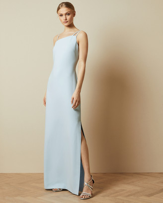 Ted Baker SANNSA Asymmetric strap maxi dress