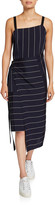 McQ Haruko Striped Draped Sleeveless Dress