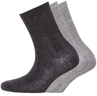 S.O.H.O New York Womens Collection Three Pack Socks Grey