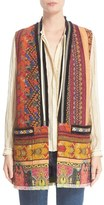 Etro Women's Ribbon Print Cotton Blend Vest
