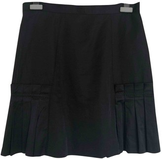 Sand Black Cotton Skirt for Women