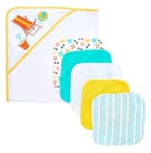 Tendertyme Baby Boys and Girls 6-Piece Towel and Washcloth Gift Set
