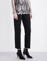 Sharon Wauchob Cutout-detail straight high-rise silk trousers