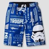 Star Wars Boys' Swim Trunk-Storm Trooper - Blue