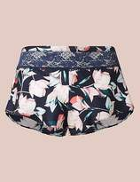 Marks and Spencer Silk & Lace Floral Print French Knickers