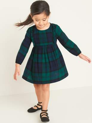 Old Navy Plaid Ruffled Flannel Dress for Toddler Girls