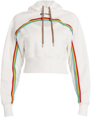 Palm Angels Rainbow Cut-Out Logo Hoodie