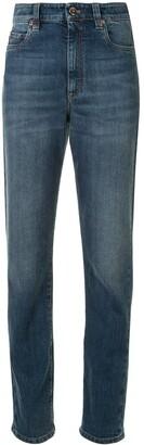 Brunello Cucinelli High Waist Straight Leg Jeans