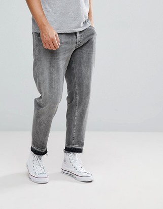 Selected Jeans In Tapered Fit With Cropped Leg