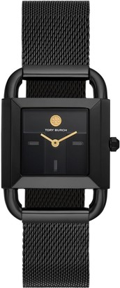 Tory Burch PHIPPS WATCH, BLACK-TONE STAINLESS STEEL/BLACK, 24 MM