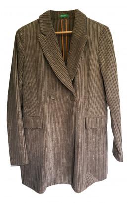 Benetton Grey Velvet Jackets