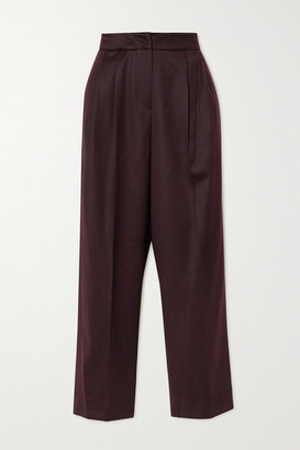 LVIR Wool Straight-leg Pants - Burgundy