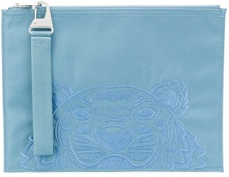 Kenzo Embroidered-Motif Clutch