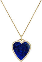 Jennifer Meyer Women's White Diamond & Lapis Lazuli Heart Pendant Necklace