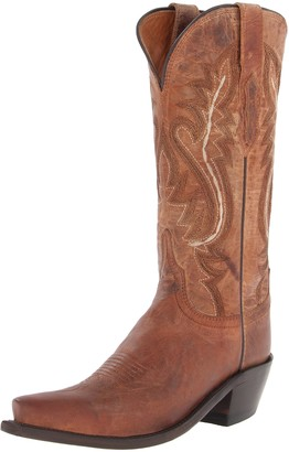 Lucchese Bootmaker Women's Cassidy-tan Mad Dog Goat Riding Boot 6 B US