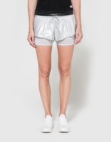 adidas by Stella McCartney Run 2 in 1 Short in Silver