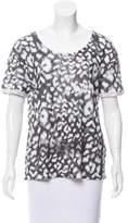 Sandro Printed Short Sleeve Top