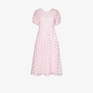 Cecilie Bahnsen Katrine floral-embroidered midi dress