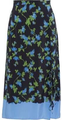 Altuzarra Felice Lace-up Floral-print Silk Crepe De Chine Skirt