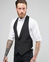 Asos Slim Fit Waistcoat With Shawl Collar