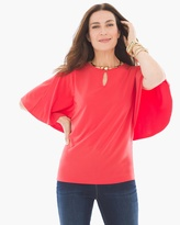 Chico's Keyhole Cape Top