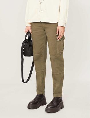 J Brand Bryar pocket-detail tapered high-rise jeans