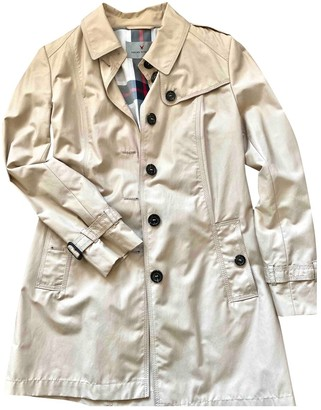 BEIGE Non Signe / Unsigned Cotton Trench Coat for Women