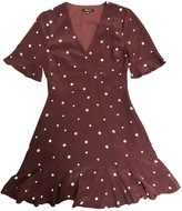 Madewell Burgundy Silk Dress for Women